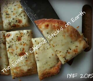 easiest cheese sticks on earth close up