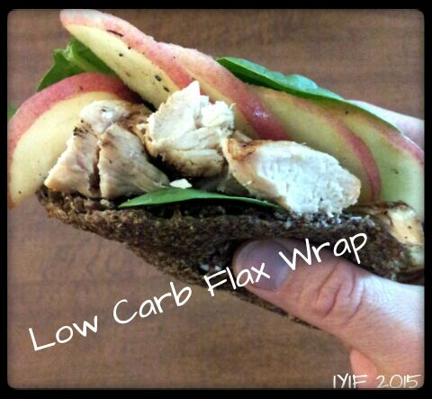 low carb flax wrap