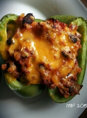southwest stuffed peppers close up