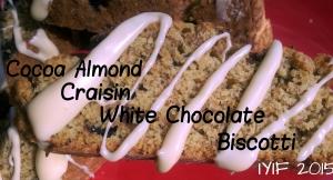 biscotti cocoa almond craisin white chocolate