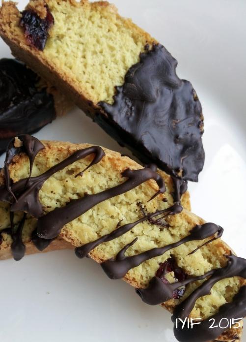 chocolate covered cherry vanilla biscotti