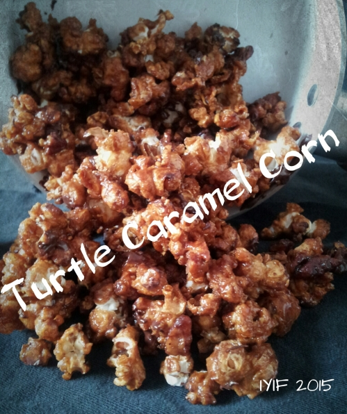 turtle caramel corn with name
