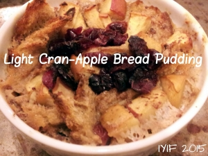 light cran-apple bread pudding 1