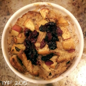 light cran-apple bread pudding 2