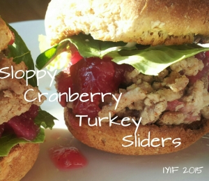 sloppy cranberry turkey sliders1