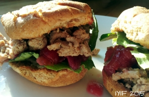 sloppy cranberry turkey sliders2
