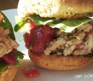sloppy cranberry turkey sliders3