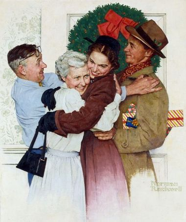 norman rockwell home for christmas