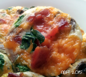 mini egg white omelet close up