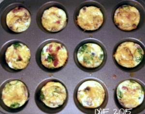 mini egg white omelet in pan