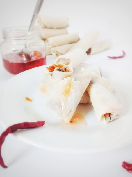 sweet chili sauce and spring roll11