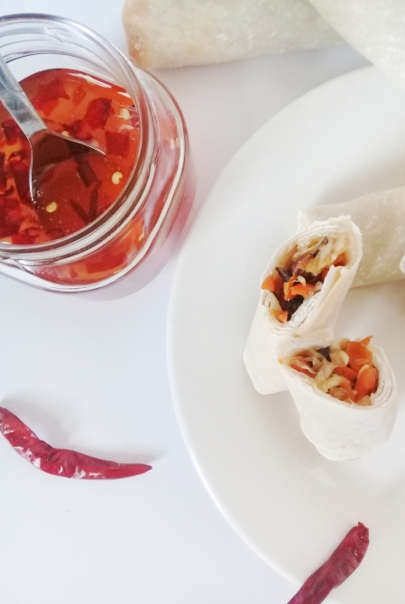 sweet chili sauce and spring roll8