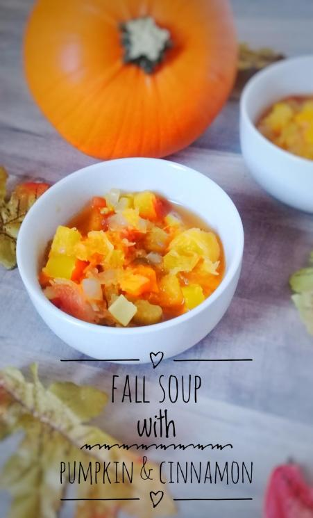 fall soup created with pumpkin and cinnamon and UHS window tinting and blinds