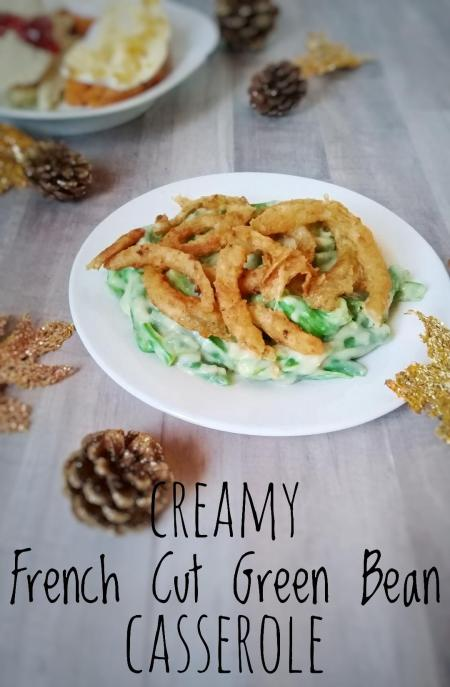 creamy french green bean casserole with onion topping and STL locksmith