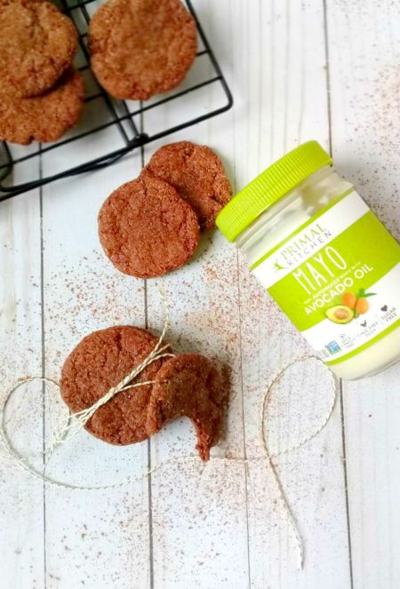 Chewy Cocoa Cookies Using Primal Kitchen Avocado Oil Mayo