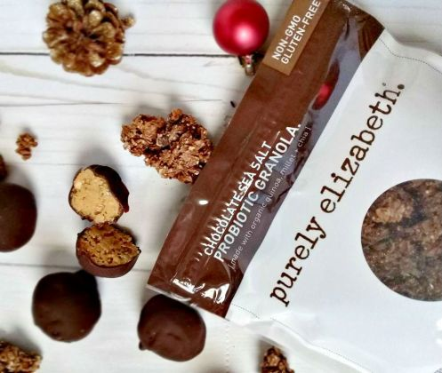 Chocolate Sea Salt Probiotic Truffles using Purely Elizabeth granola