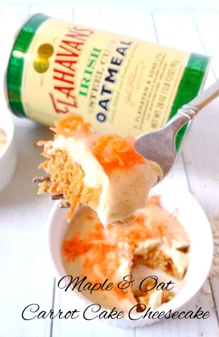 maple and oat carrot cake cheese cake using flahavans irish oats and maple 2.0