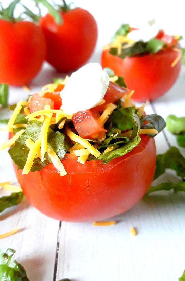 Low carb tomato taco bowls using sugar 2.0